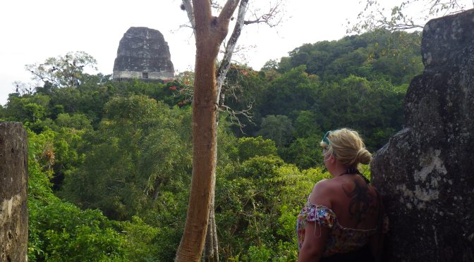 In which your two girls commit crimes (but not cards) against humanity – Tikal, Guatemala