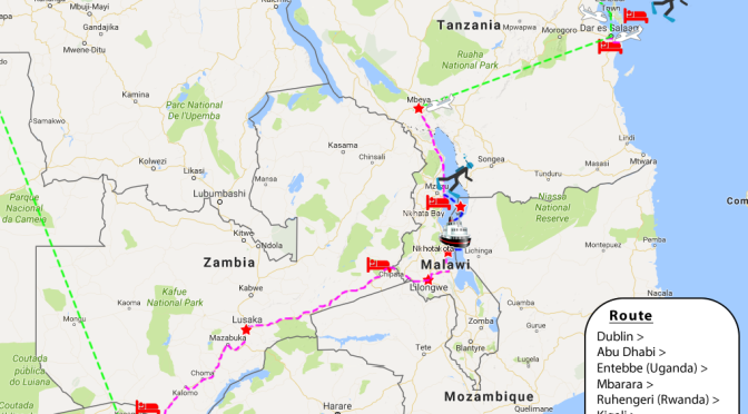 2016 Africa Route Map